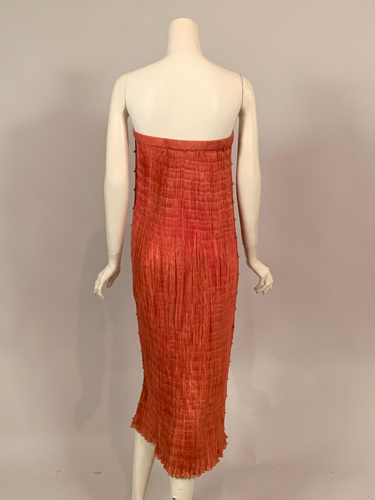 Delphos Venezia Fortuny Style Strapless Dress or Long Skirt For Sale 1