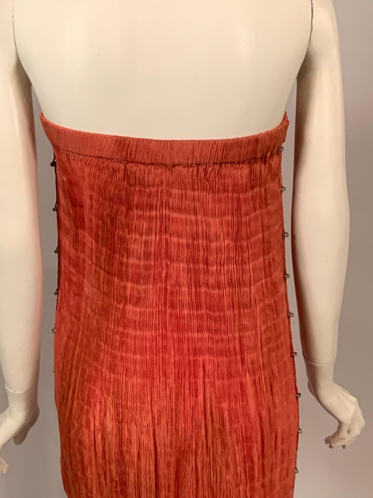 Delphos Venezia Fortuny Style Strapless Dress or Long Skirt For Sale 2