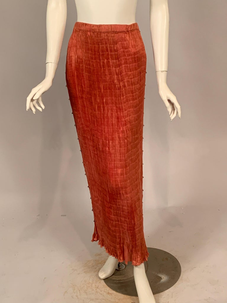 Delphos Venezia Fortuny Style Strapless Dress or Long Skirt For Sale 3