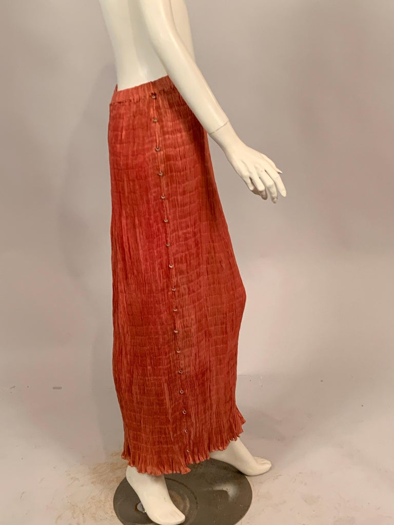 Delphos Venezia Fortuny Style Strapless Dress or Long Skirt For Sale 4