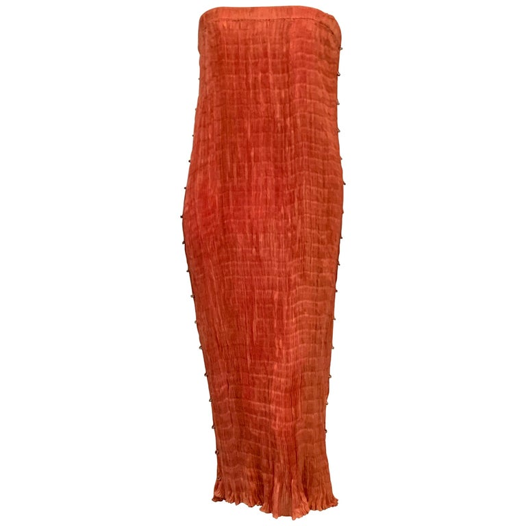 Delphos Venezia Fortuny Style Strapless Dress or Long Skirt For Sale