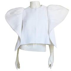 Delpozo Sculptural Linen Jacket