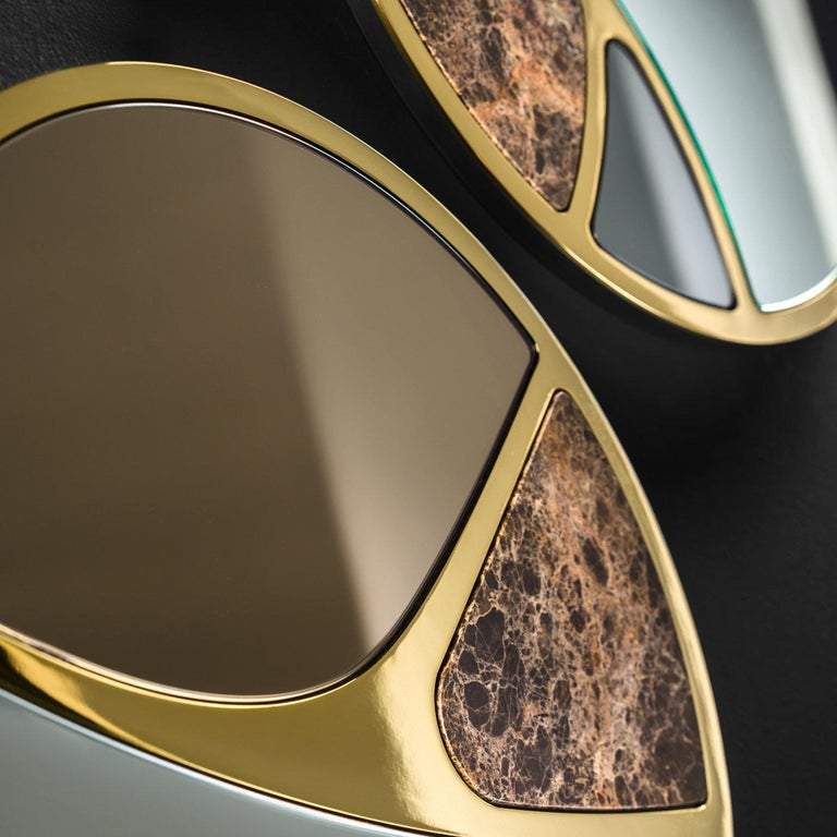Italian Delta 1 Mirror by Claudia Campone and Martina Stancati For Sale