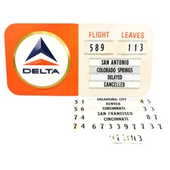 Delta Airlines Terminal Flight Board, C. 1960's
