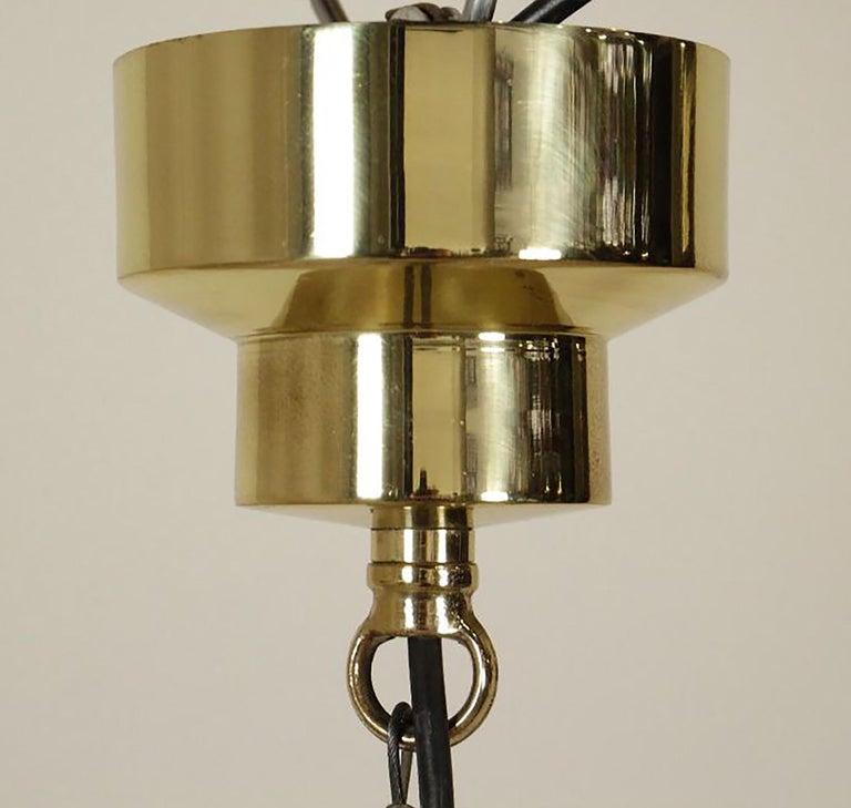 Mid-Century Modern Delta Grande Pendant Light Glass Brass by Sergio Mazza for Artemide, 1960s, Pair For Sale