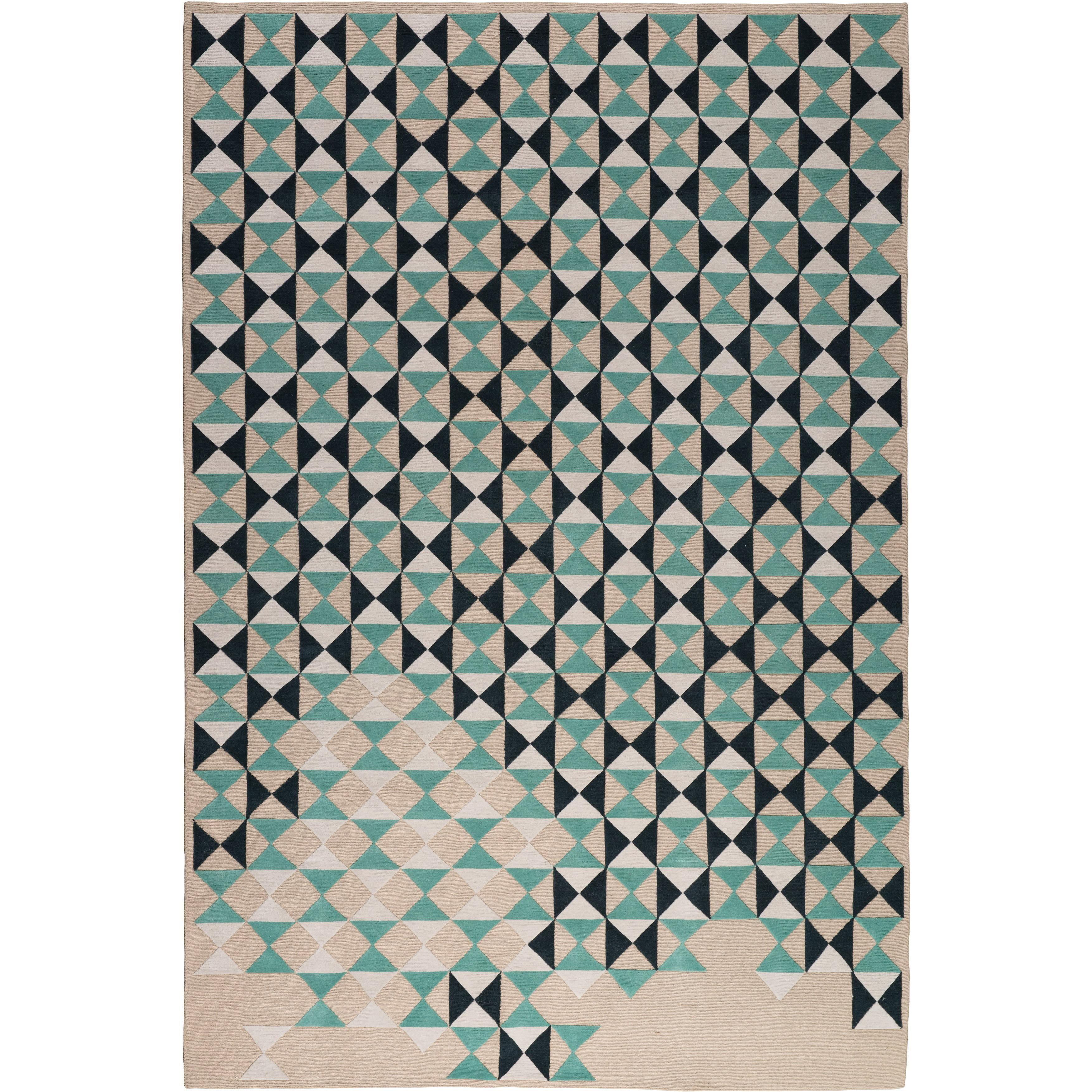 Deltille Hand-Knotted 10x8 Rug in Wool by Trine Kielland