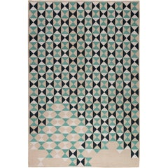 Deltille Hand-Knotted 6x4 Floor Rug in Wool by Trine Kielland