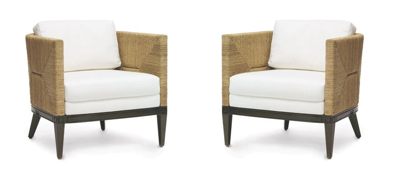 Deluxe Coastal Style Armchair Handcrafted with Natural Woven Rope In New Condition For Sale In New York, NY