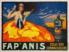 """""""Fap' Anis"""" Original Vintage Spirits Poster"""