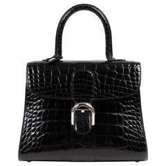 Delvaux Black Alligator Brillant MM