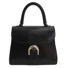 Delvaux Black Brillant Boxcalf Pm