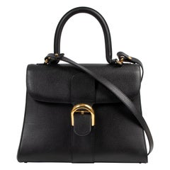 Delvaux Black Brillant MM Bag + Strap