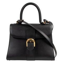Delvaux Black Brillant MM Bag + Strap