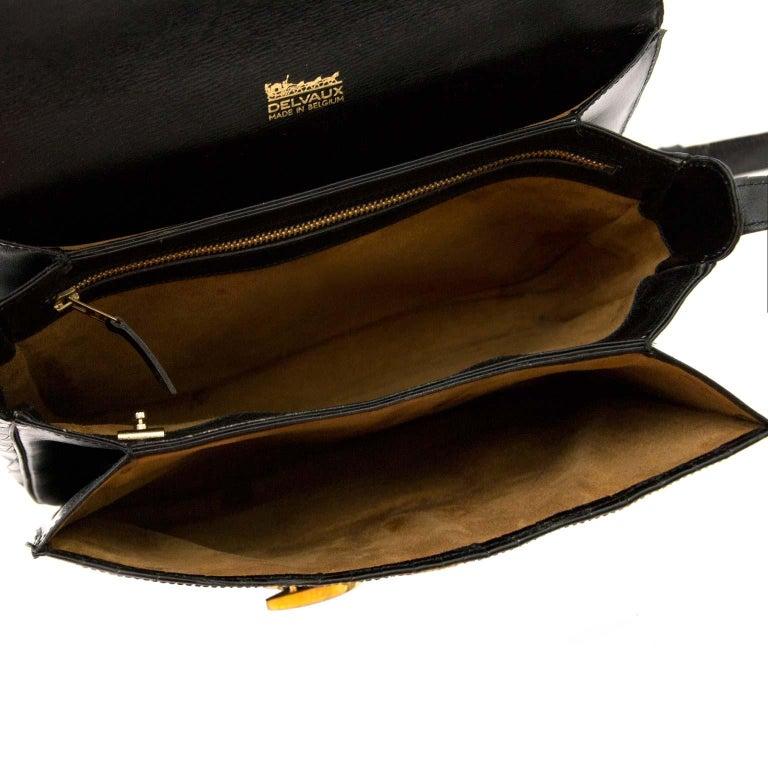 Delvaux Black Crocodile Bourgogne Shoulder Bag For Sale 4