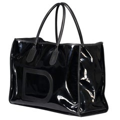 Delvaux Black Taxi Travel Bag
