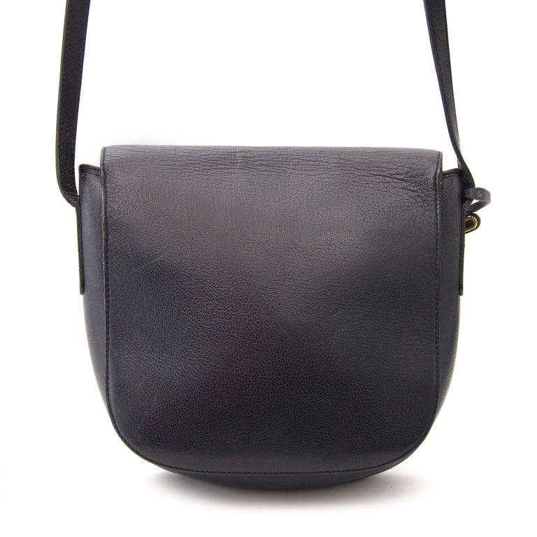 Black Delvaux Blue Shoulder Bag For Sale