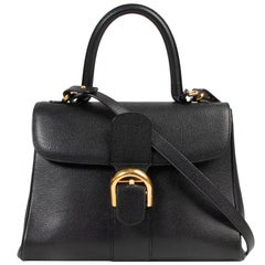 Delvaux Brillant Black MM + Strap