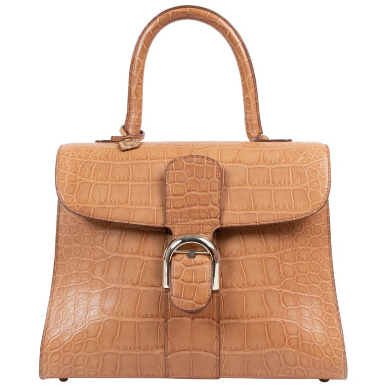 Delvaux Brillant MM Biface Alligator Dolce Végétal For Sale