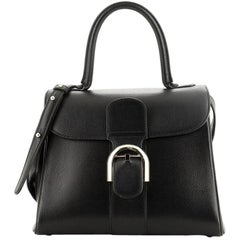 Delvaux Brillant Top Handle Bag Leather MM