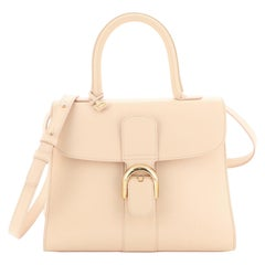 Delvaux Brillant Top Handle Bag Leather MM