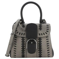Delvaux Brillant Top Handle Bag Whipstitch Leather Mini