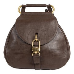 Delvaux Brown Leather Cerceau Bag