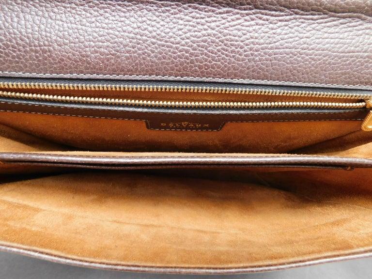 Women's or Men's Delvaux Brown Leather Crossbody Handbag  For Sale