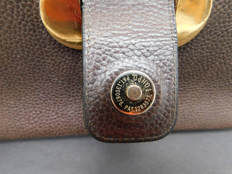 Delvaux Brown Leather Crossbody Handbag  For Sale 1