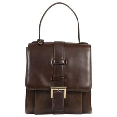Delvaux Brown Modèle Déposé Top Handle Bag