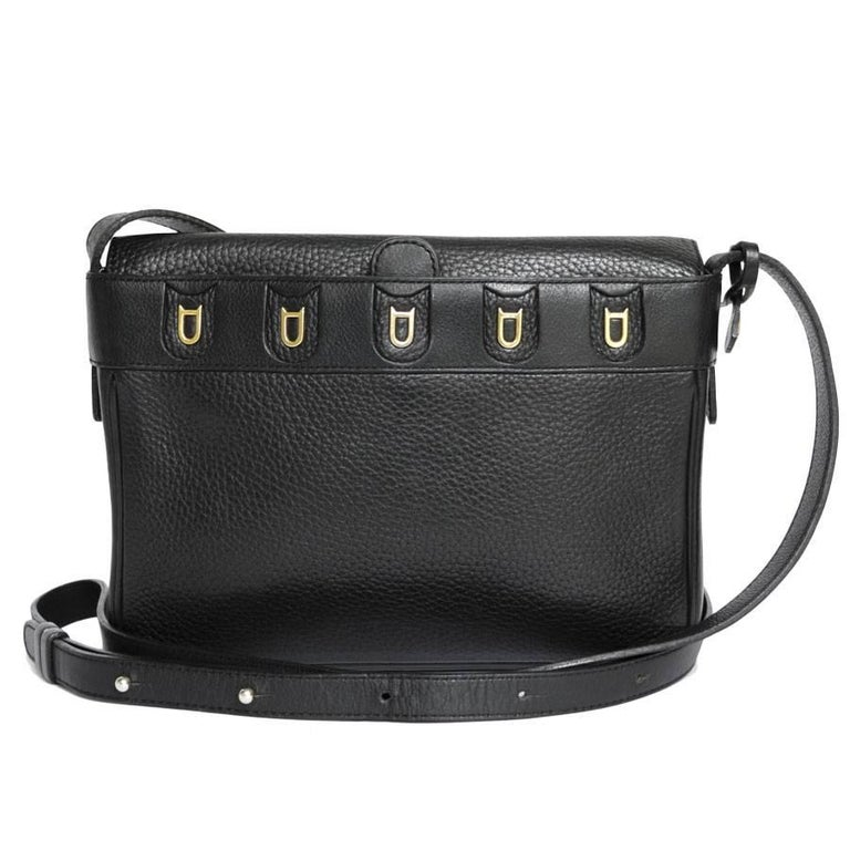 DELVAUX Clutch bag in Black Grained Leather