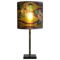 Delvaux Créateur Midcentury Leather Belgium Orientable Table Lamp, 1950s