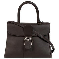 Delvaux Dark Brown Brillant MM + Strap