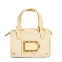 Delvaux Le Astrid Mini Toile Vanille Evening Bag