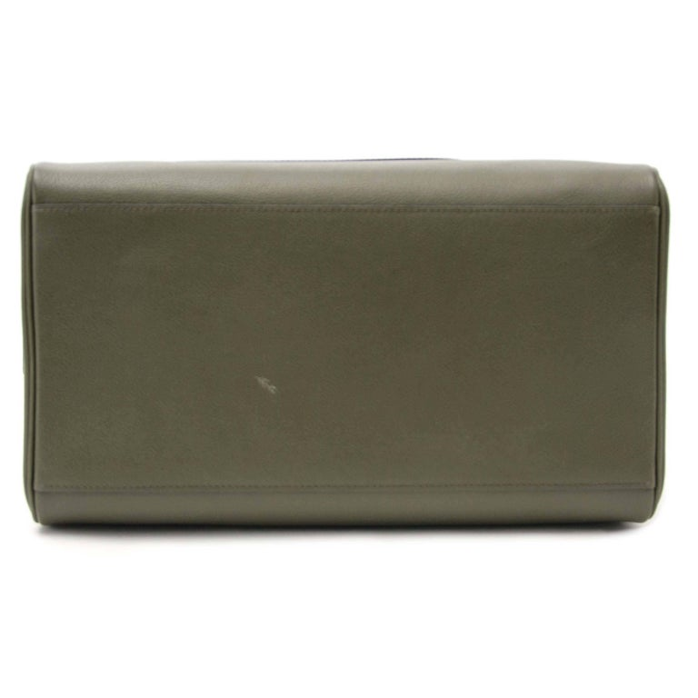 Black Delvaux Louise Boston Allure Olive Green handbag For Sale