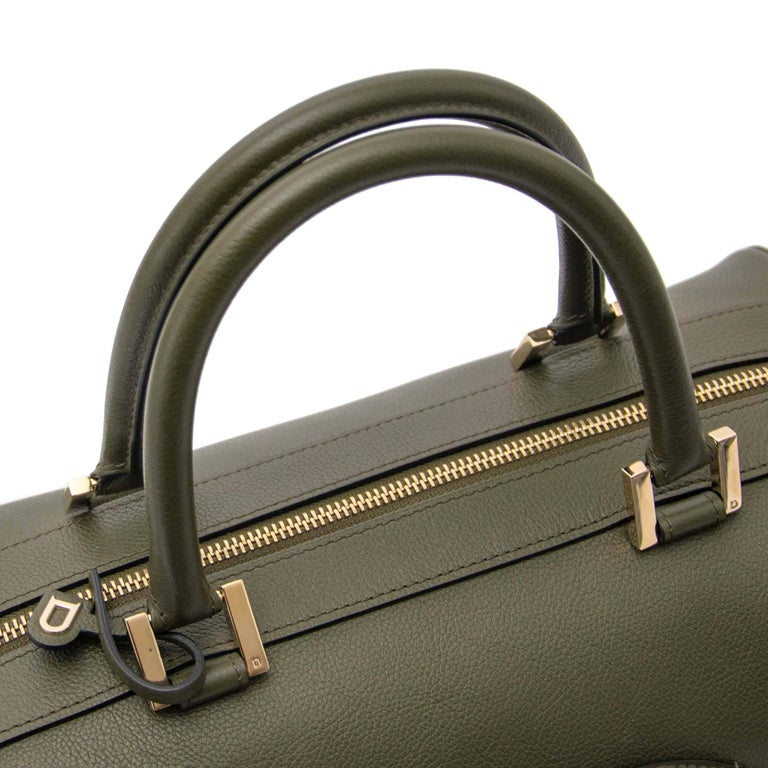 Delvaux Louise Boston Allure Olive Green handbag For Sale 1