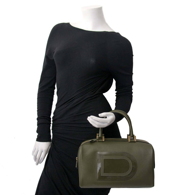 Delvaux Louise Boston Allure Olive Green handbag For Sale 2