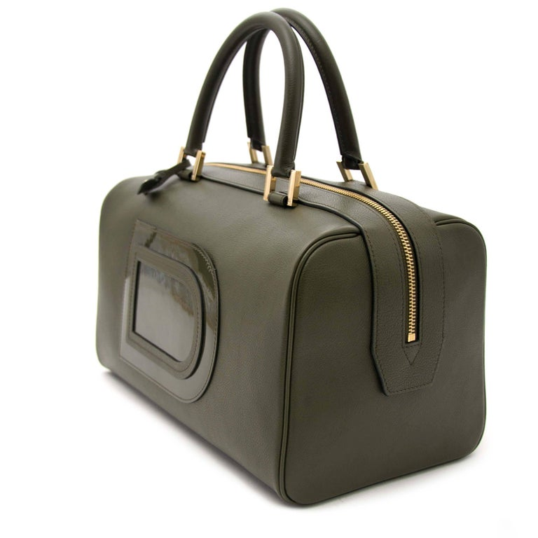 Delvaux Louise Boston Allure Olive Green handbag For Sale 3