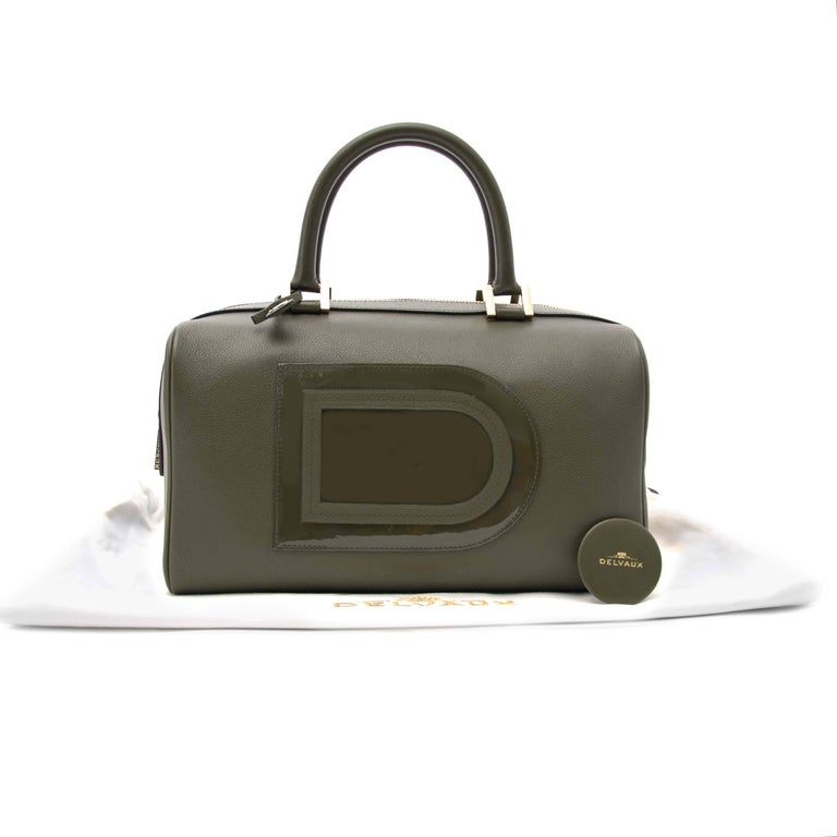 Delvaux Louise Boston Allure Olive Green handbag For Sale 4