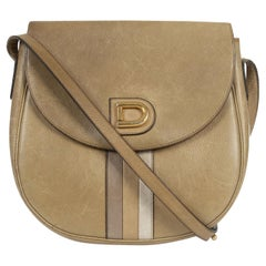Delvaux Olive Green Leather Crossbody Bag