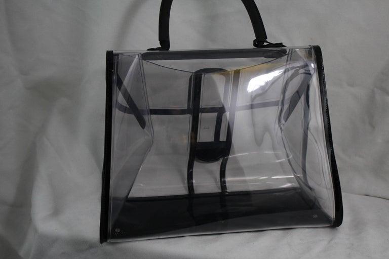 Gray Delvaux Plexi Le brillant  Xray Bag For Sale