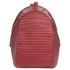 Delvaux Red Azov Backpack