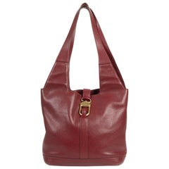 Delvaux Red Tote Shoulder Bag