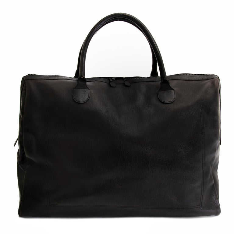 Delvaux Taxi Black Leather Large Travel Bag 2