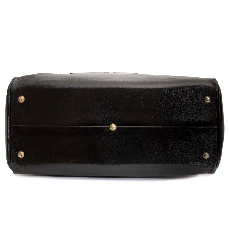 Delvaux Taxi Black Leather Large Travel Bag 3