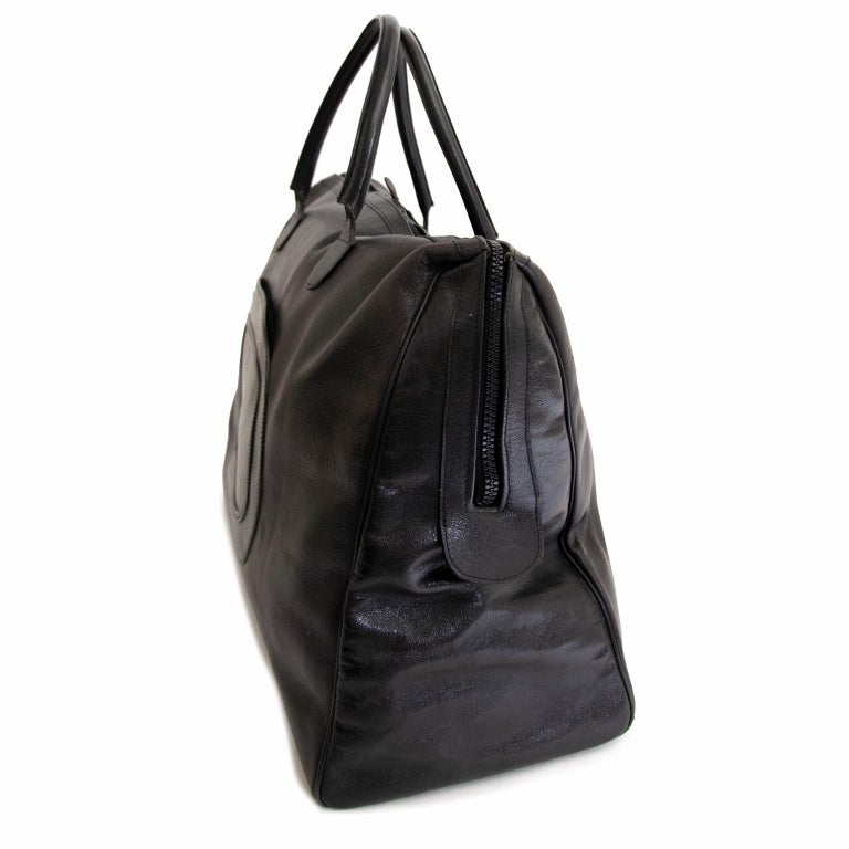 Delvaux Taxi Black Leather Large Travel Bag 5