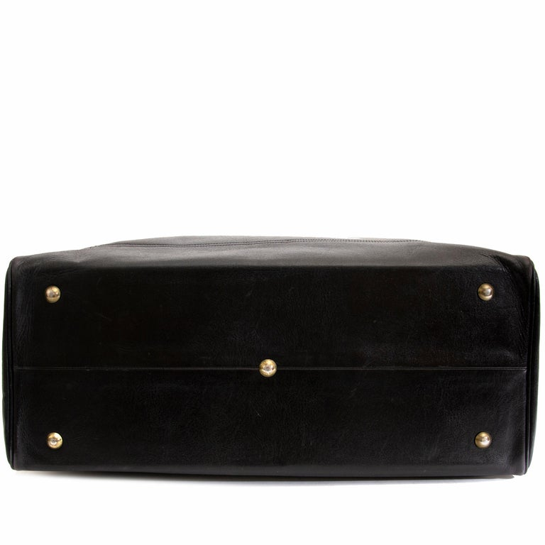 Delvaux Taxi Black Leather Large Travel Bag 6