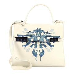 Delvaux Tempete Top Handle Bag Hand Painted Leather MM