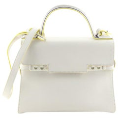 Delvaux Tempete Top Handle Bag Leather MM
