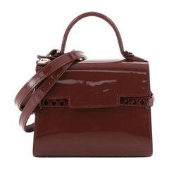 Delvaux Tempete Top Handle Bag Patent Micro