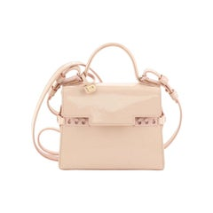 Delvaux Tempete Top Handle Bag Patent Micro